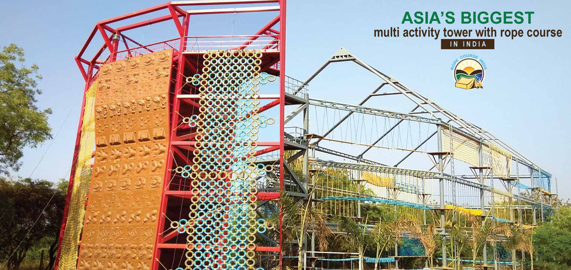 asia's biggest Multi Activity Tower with rope course